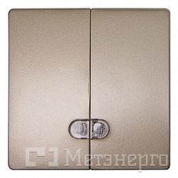Клавіша e.lux.11881L.pn.l.nickel.hang подвійна